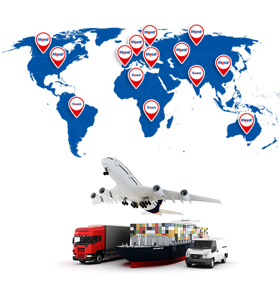 International logistic solutions in 20 countries of the world